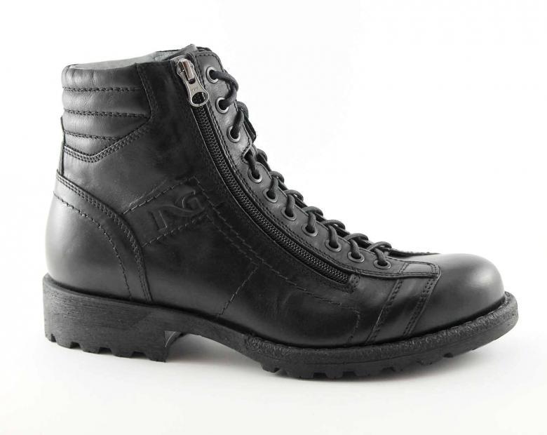 Nero giardini 4590 nero scarpe uomo stivaletti scarponcini tipo anfibi zip ebay - Anfibi uomo nero giardini ...