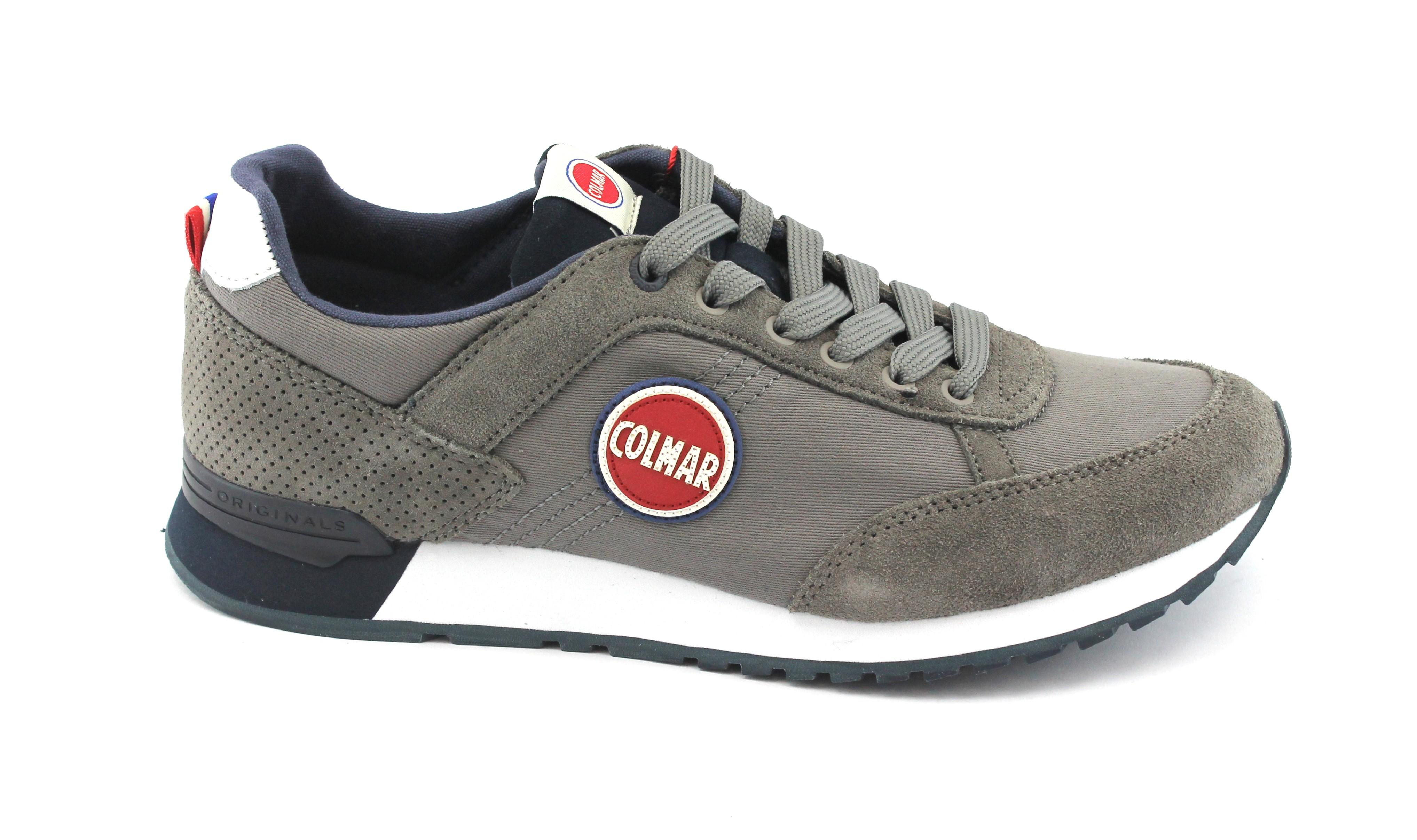 Scarpe casual da uomo  COLMAR TRACOL gray navy grigio blu scarpe uomo sneakers lacci