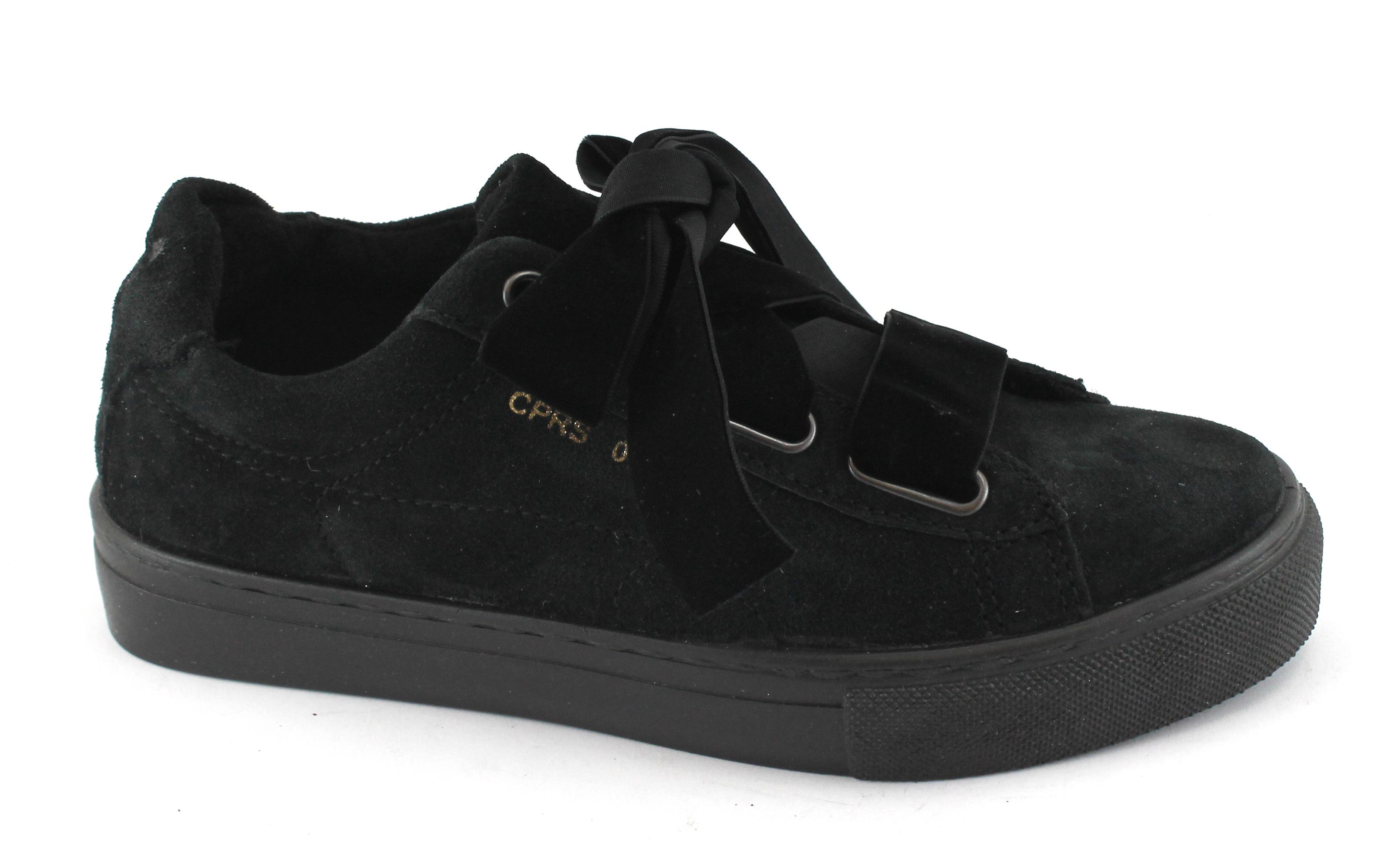 DIVINE FOLLIE 107 nero scarpe donna camoscio scarpe da ginnastica lacci camoscio donna 9647b2
