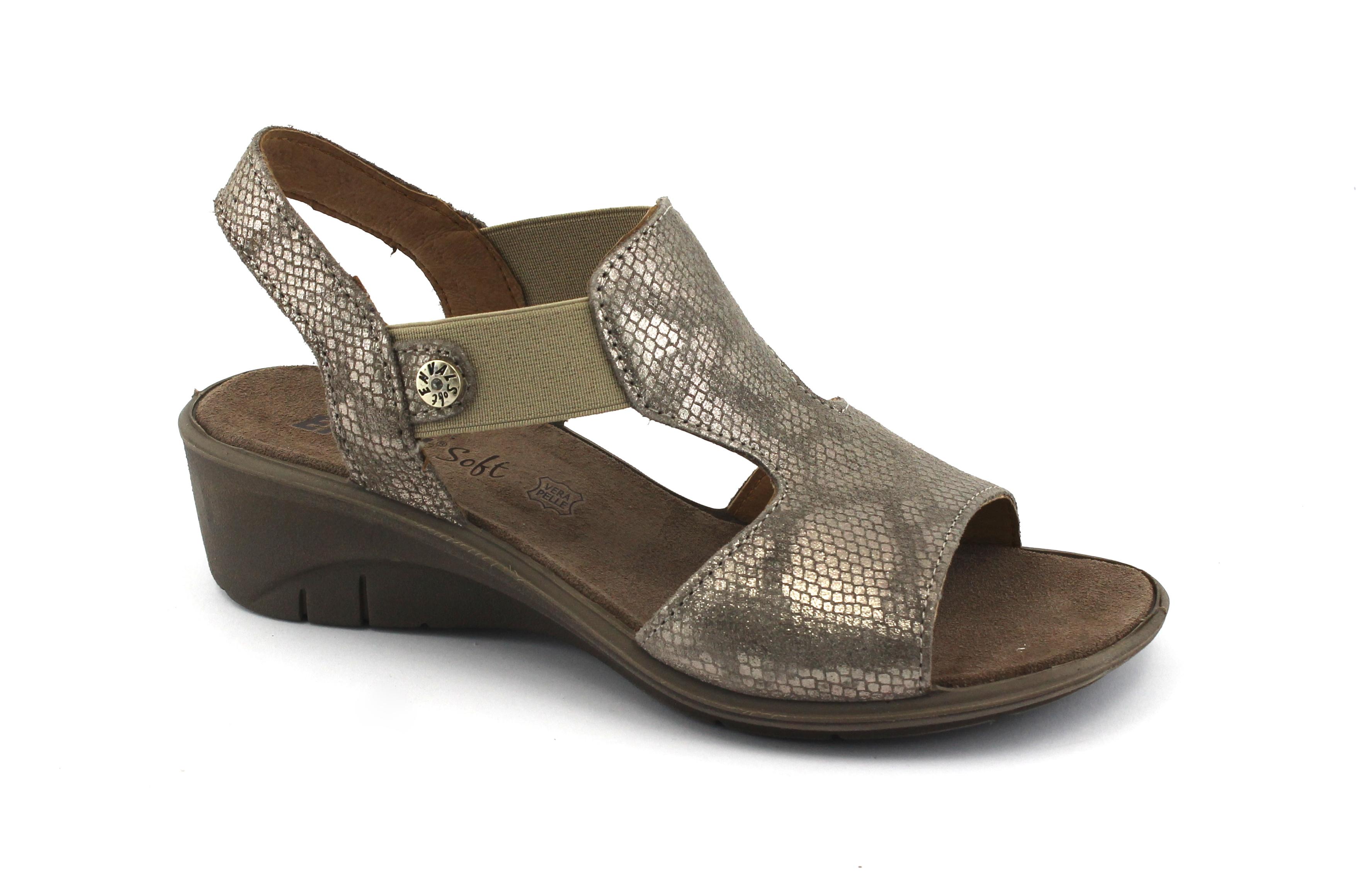 ENVAL SOFT 1277533 gomma taupe sandali donna suola gomma 1277533 flessibile elastico cc1b60