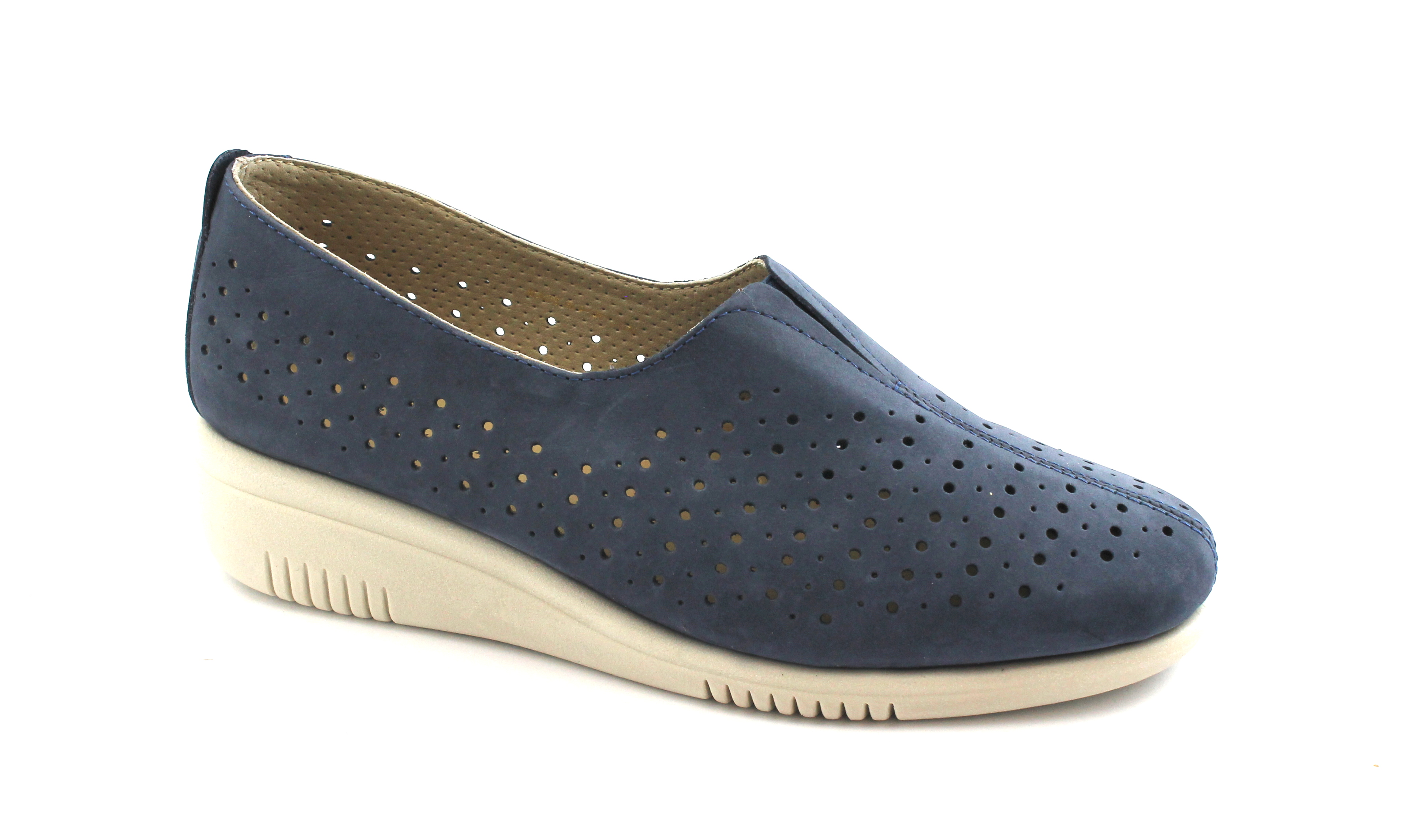 Zapatos de mujer baratos zapatos de mujer Descuento por tiempo limitado GRUNLAND SIRA SC3763 blu scarpe donna zeppetta elastico forata