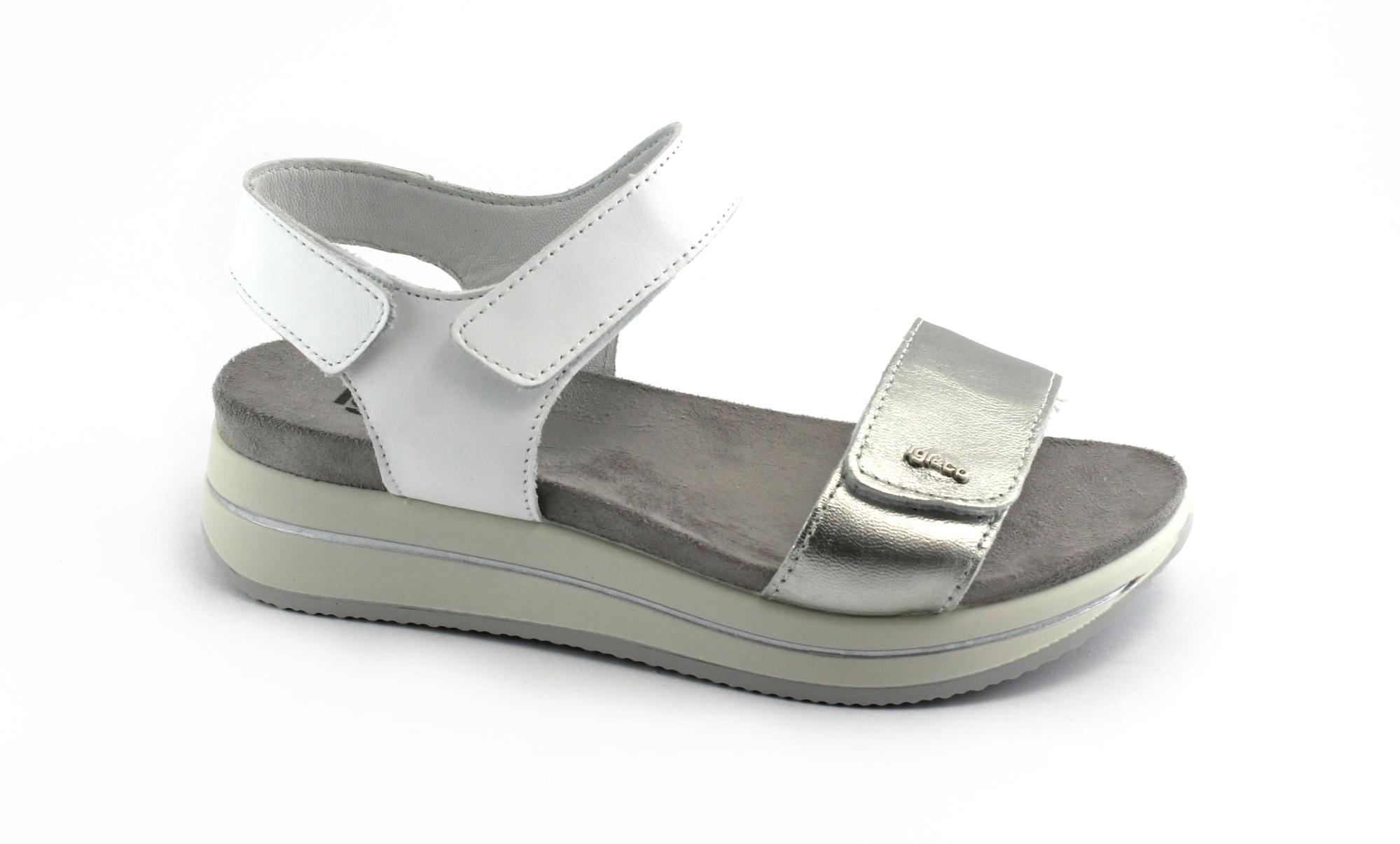 IGI&CO donna 1172400 bianco scarpe donna IGI&CO sandali  zeppa pelle   sandali 876f3d