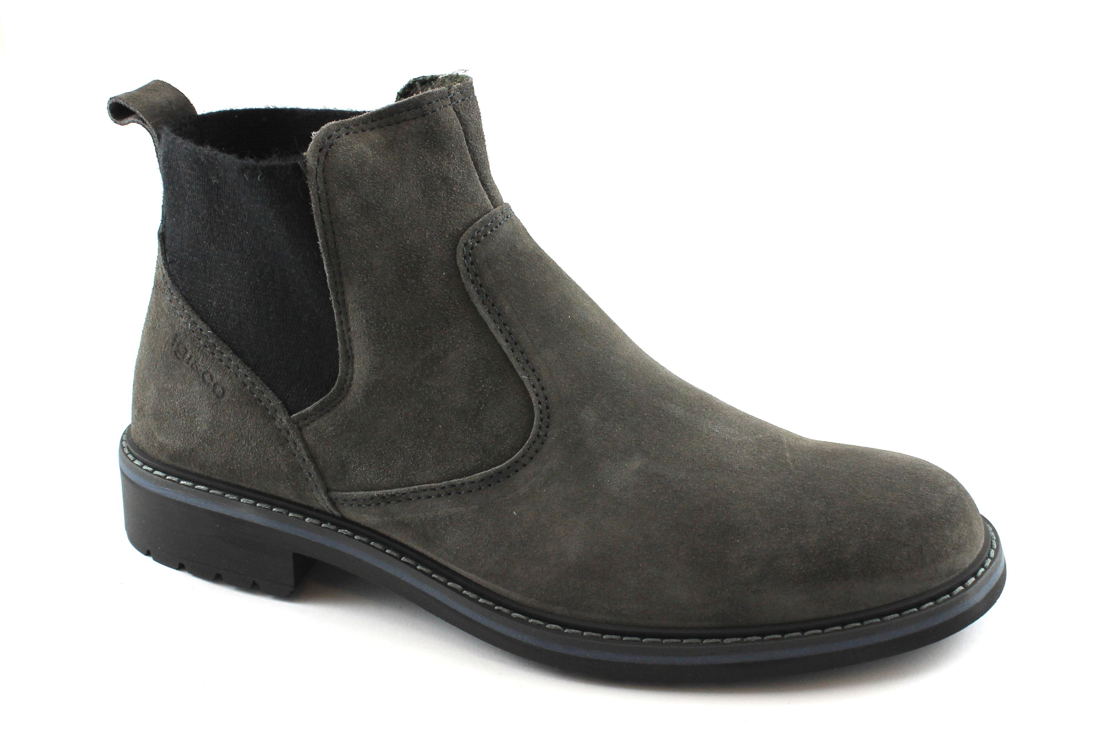 IGI&CO 87241 antracite grigio scarpe uomo stivaletti beatles camoscio