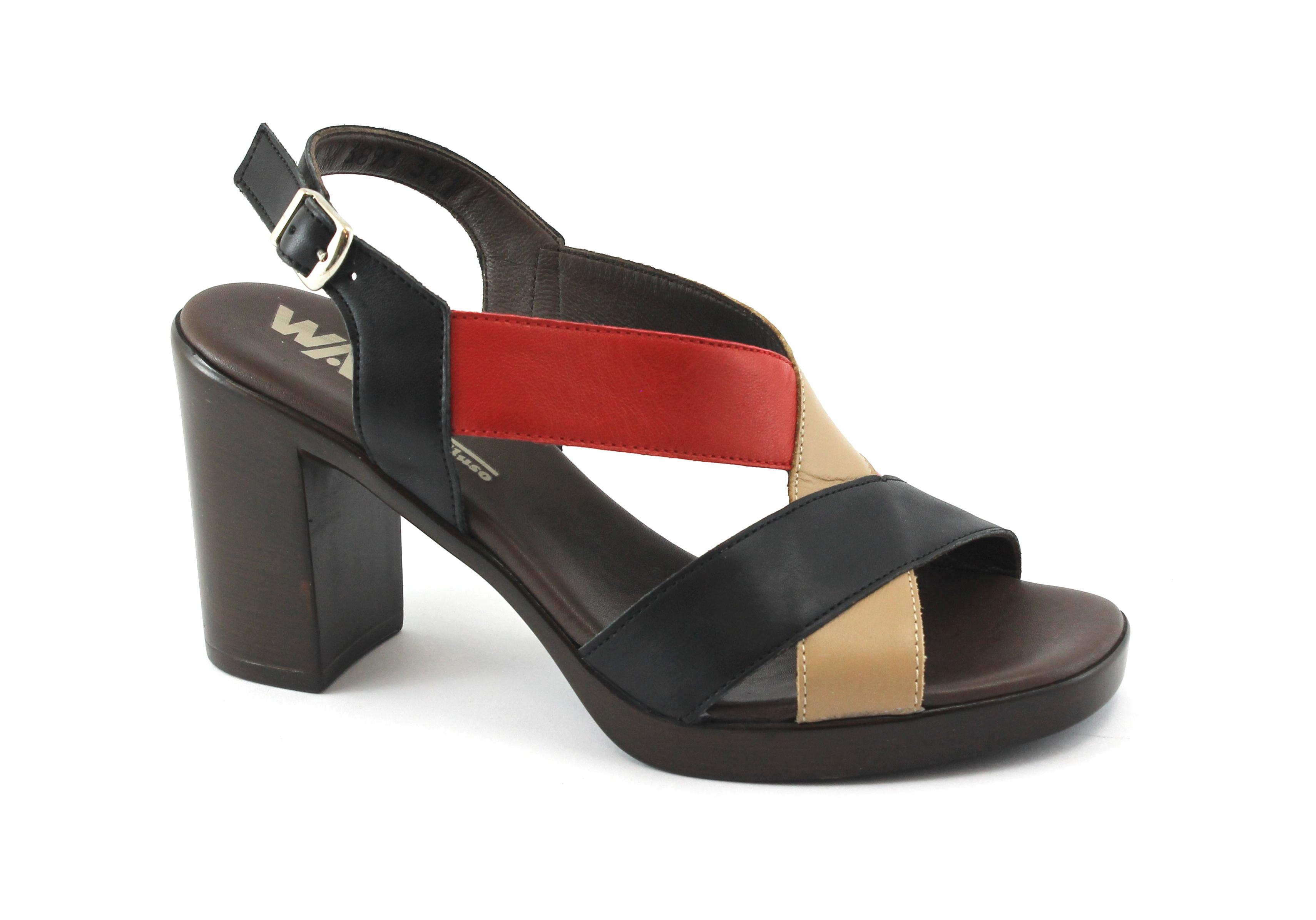 MELLUSO R8520E nero scarpe tacco donna sandalo tacco scarpe cinturino fasce 55f379