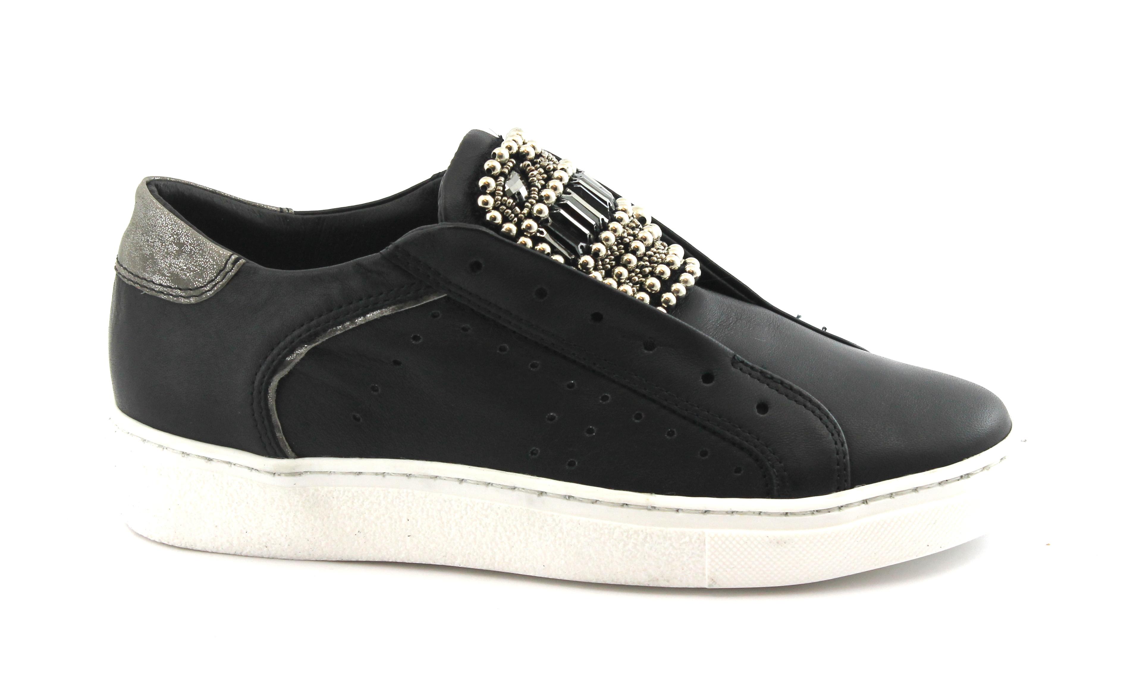 Slip Nero Sneakers Pelle Nay'e Scarpe Donna 1a63450 On Sportive Yf6g7yvb