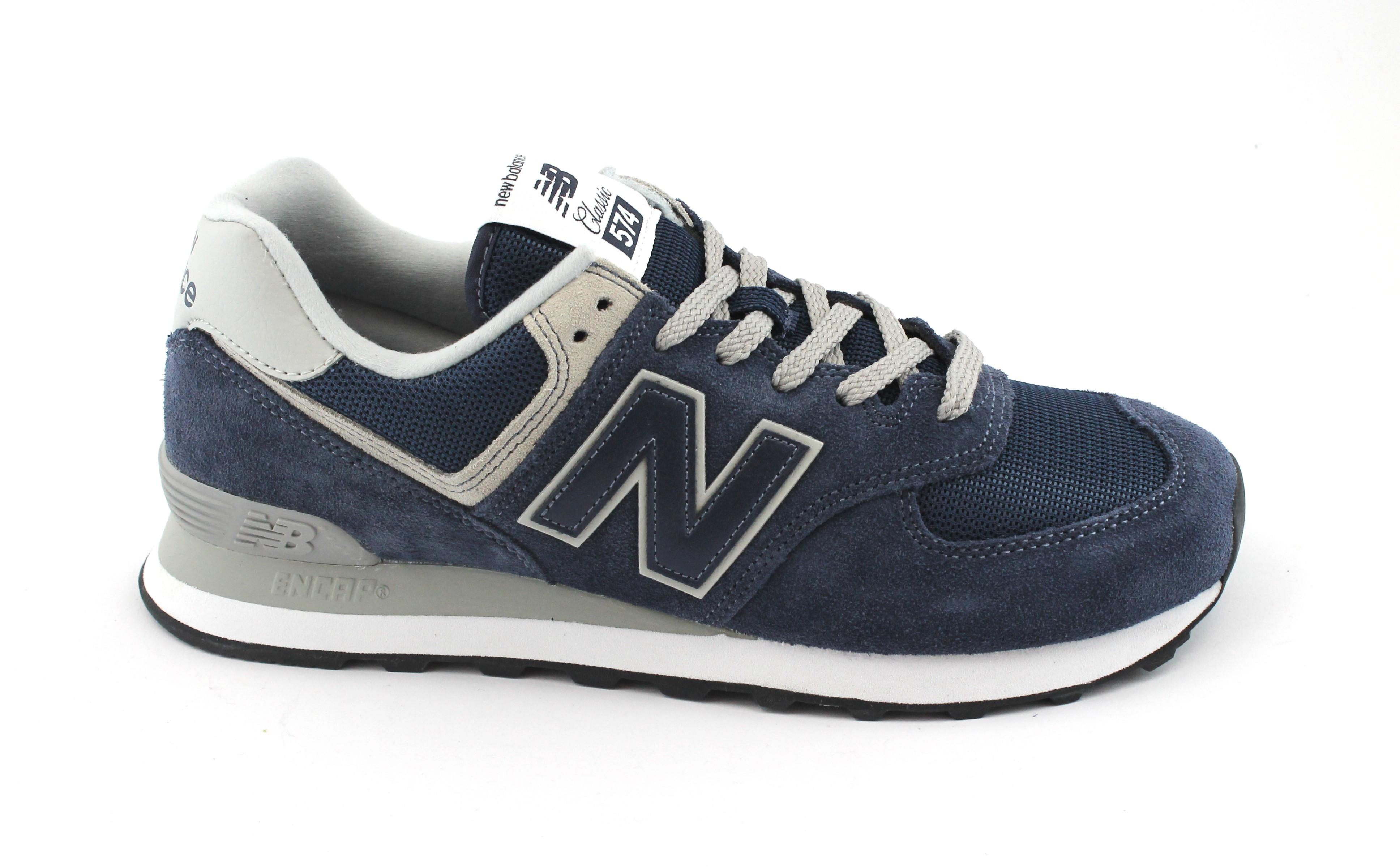 NEW BALANCE ML574 EGN blu scarpe uomo scarpe da ginnastica lacci tessuto camoscio