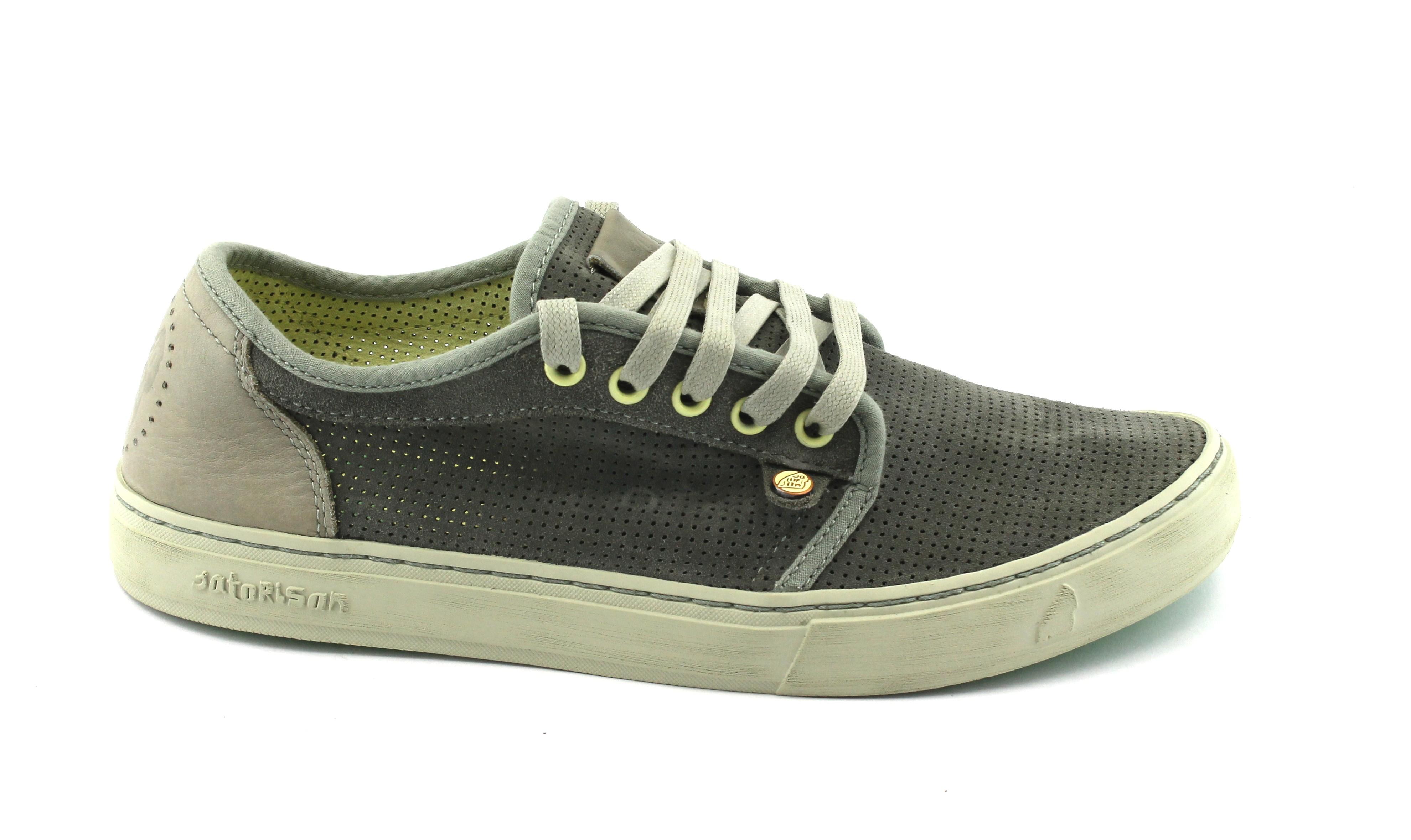 SATORISAN scarpe 181004 Heisei stormy grigio scarpe SATORISAN sneakers uomo lacci pelle 8c45ed