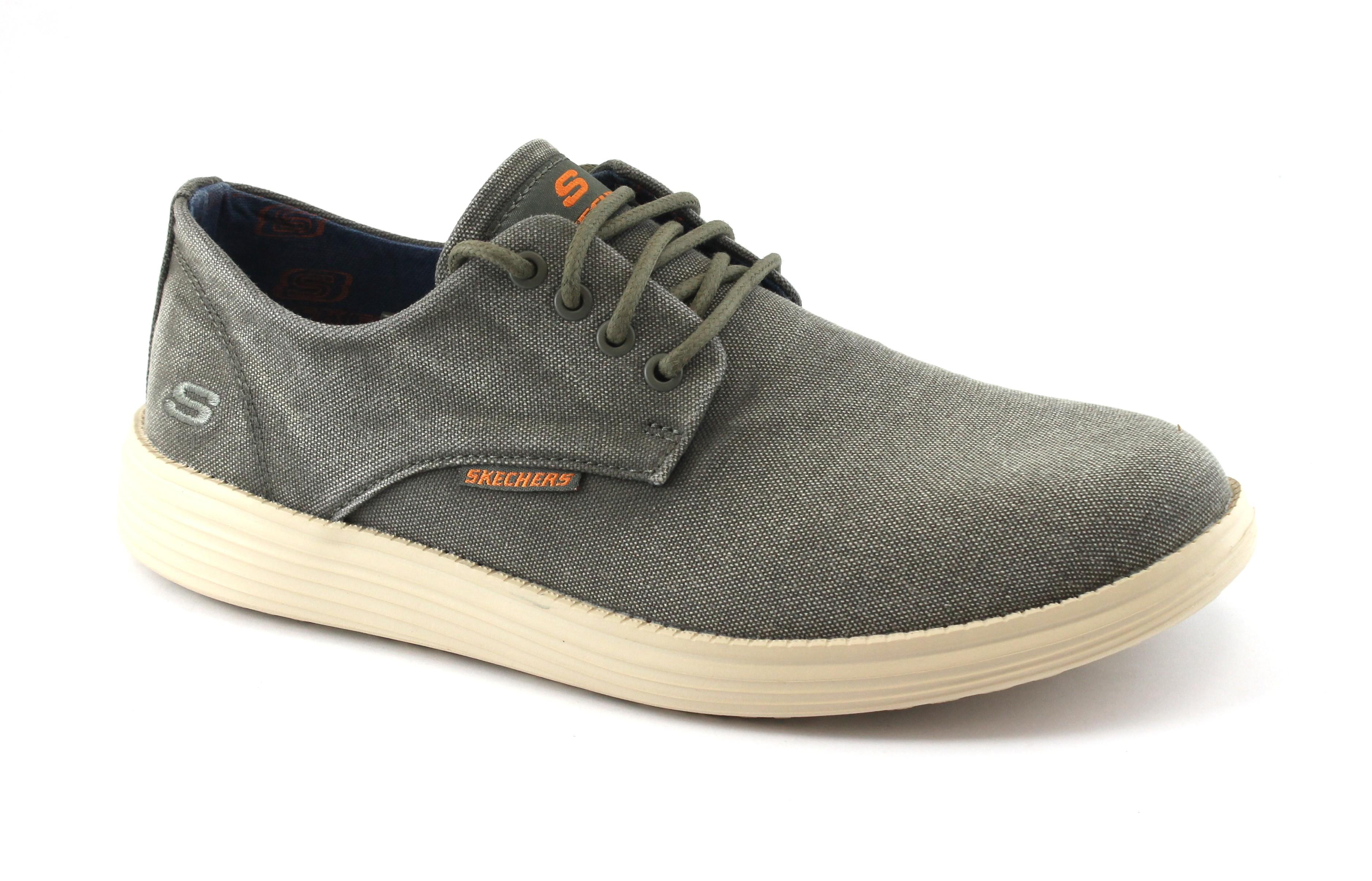 SKECHERS 64629 BORGES olive grigio scarpe uomo scarpe da ginnastica relaxed fit
