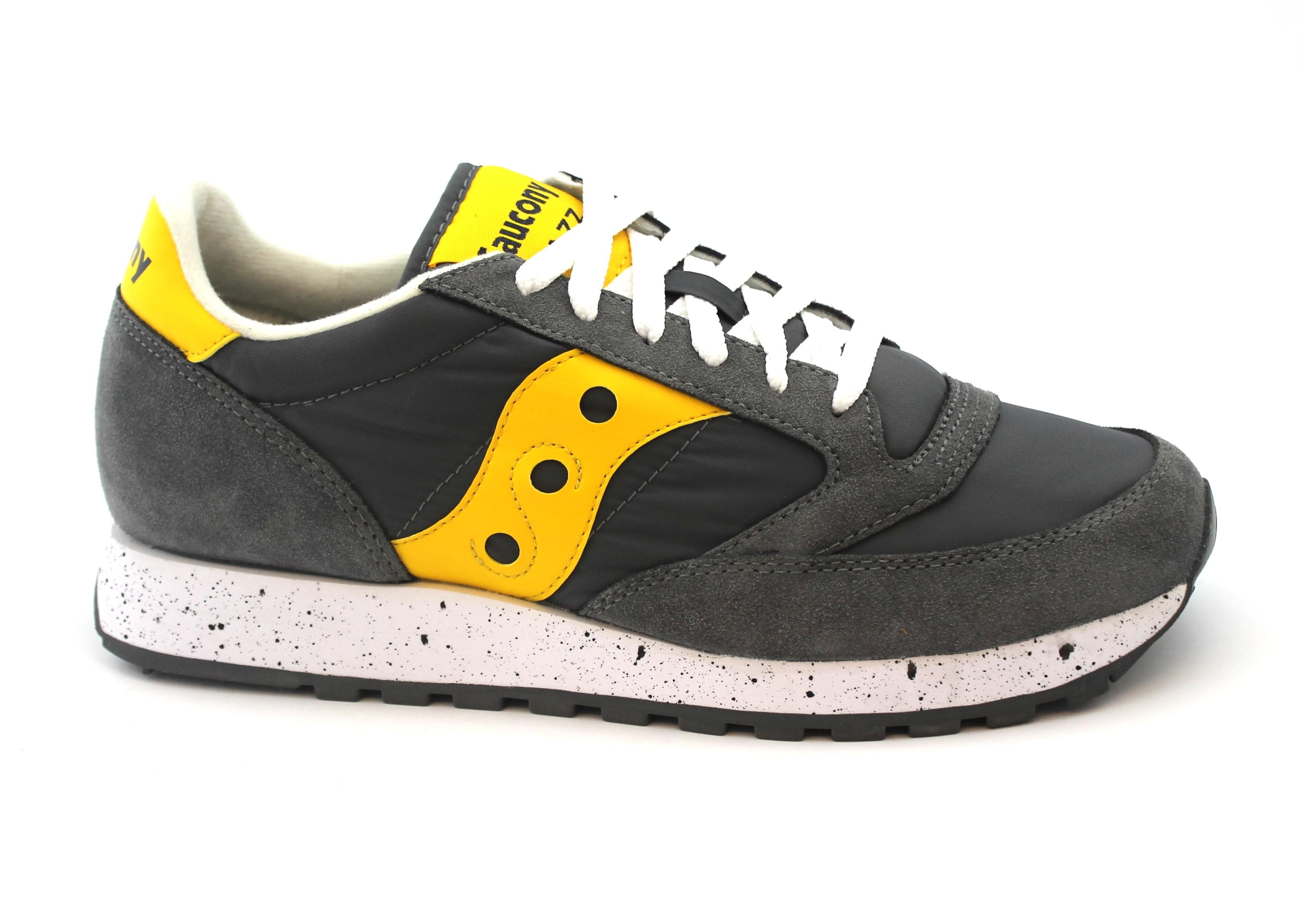 SAUCONY S2044-417 JAZZ ORIGINAL uomo grigio giallo scarpe uomo ORIGINAL sneakers 690c20