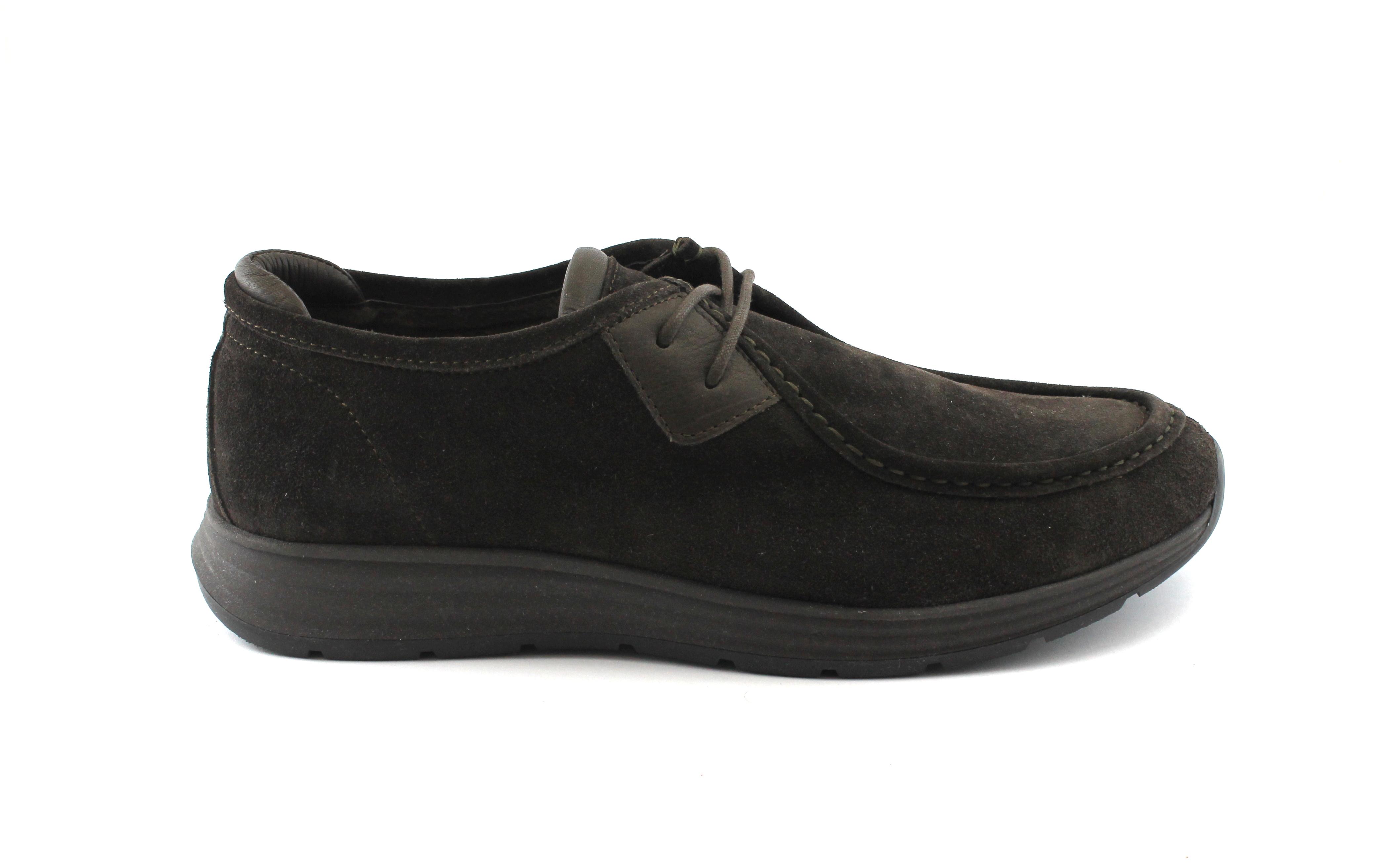 CAFè NOIR uomo TS616 t. moro scarpe uomo NOIR sportive tipo mocassino lacci c96125