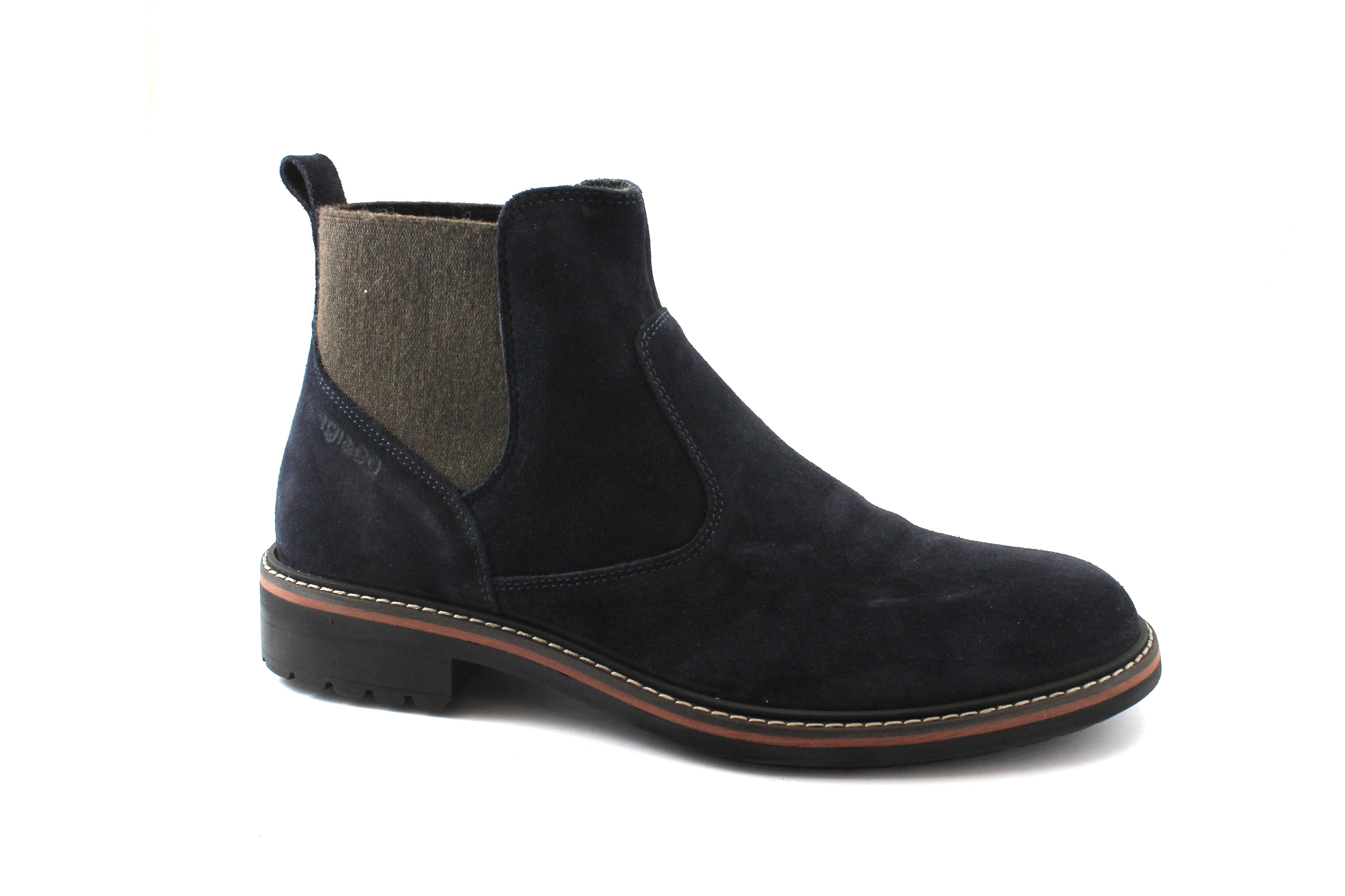 IGI&CO 2106422 beatles blu scarpe uomo stivaletti beatles 2106422 camoscio c5d1a2