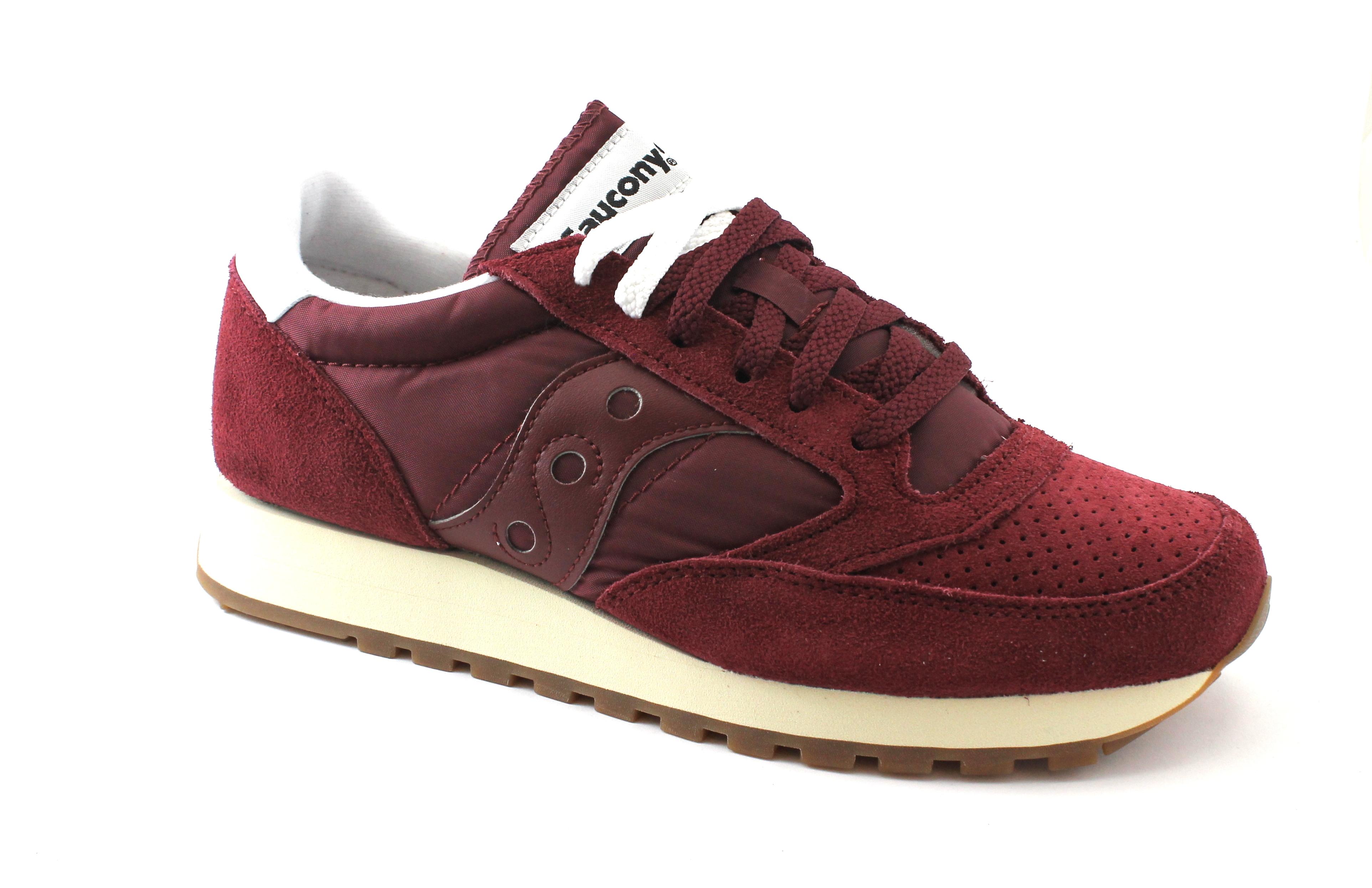 SAUCONY S70419-1 JAZZ uomo ORIGINAL vintage bordeaux scarpe uomo JAZZ sneakers e7390b