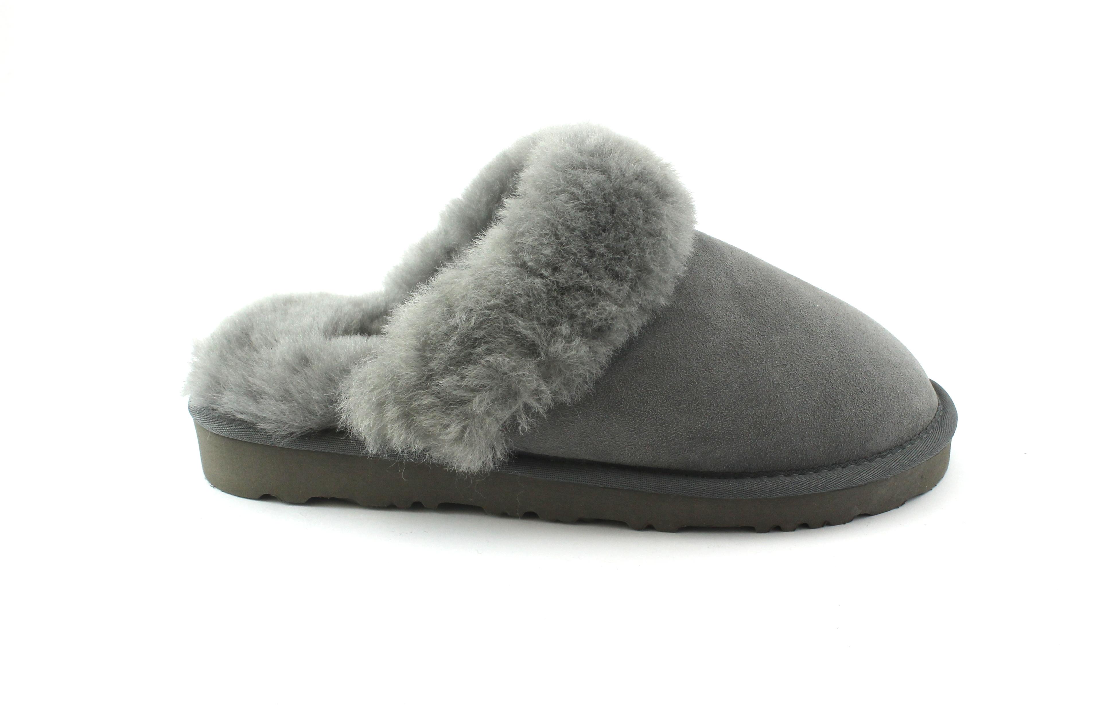 GRUNLAND CHON CI1740 grigio ciabatte montone pantofole donna vero montone ciabatte 8ced45