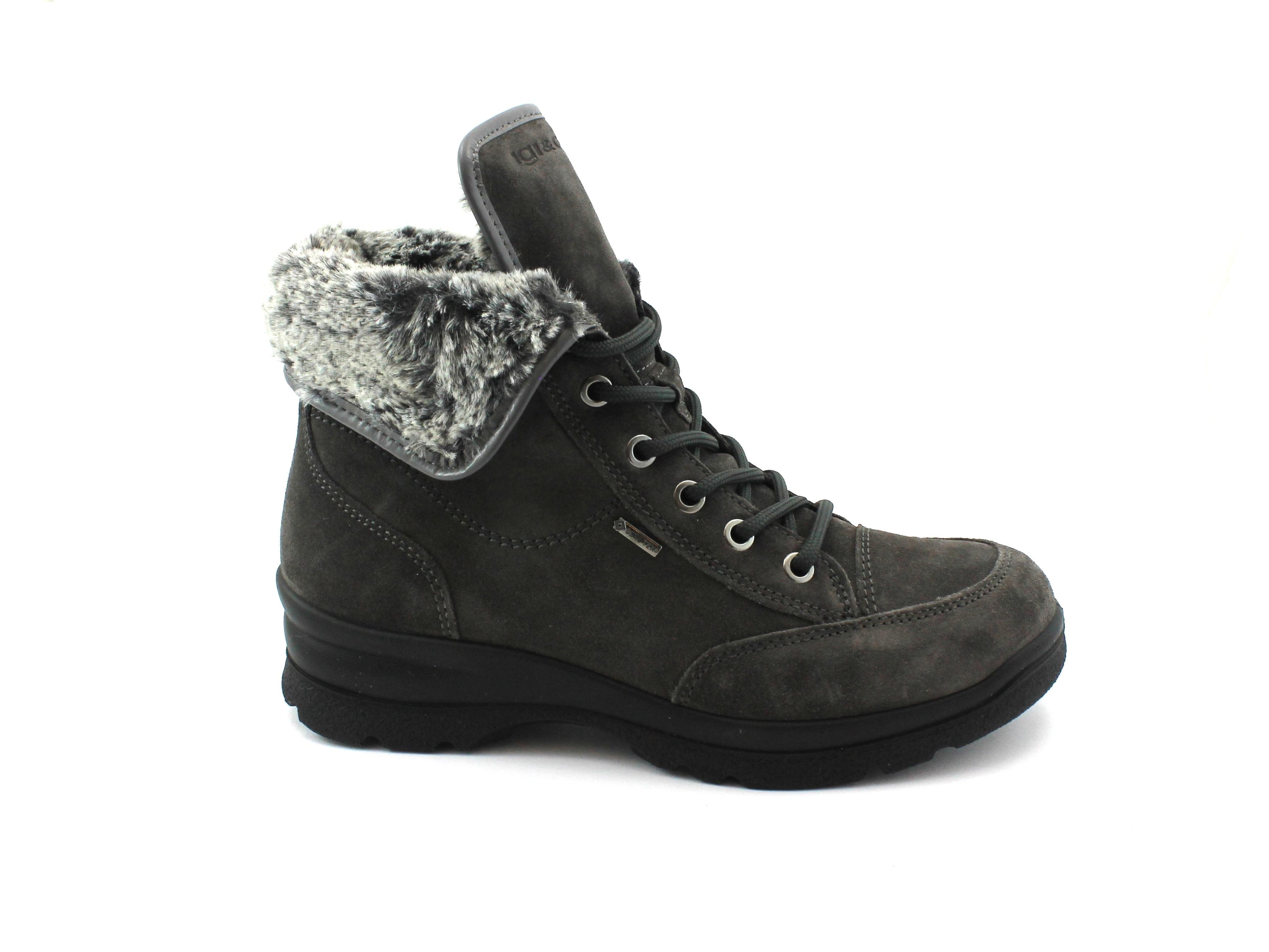 IGI&CO IGI&CO IGI&CO 2165111 grigio donna scarpe scarponcino lacci gore-tex pelo 5e09ef