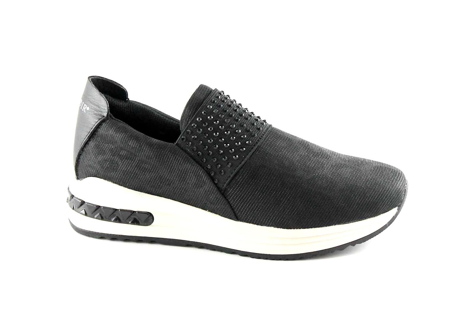 CAFè NOIR DA903 nero scarpe donna sheakers basse slip on elastico