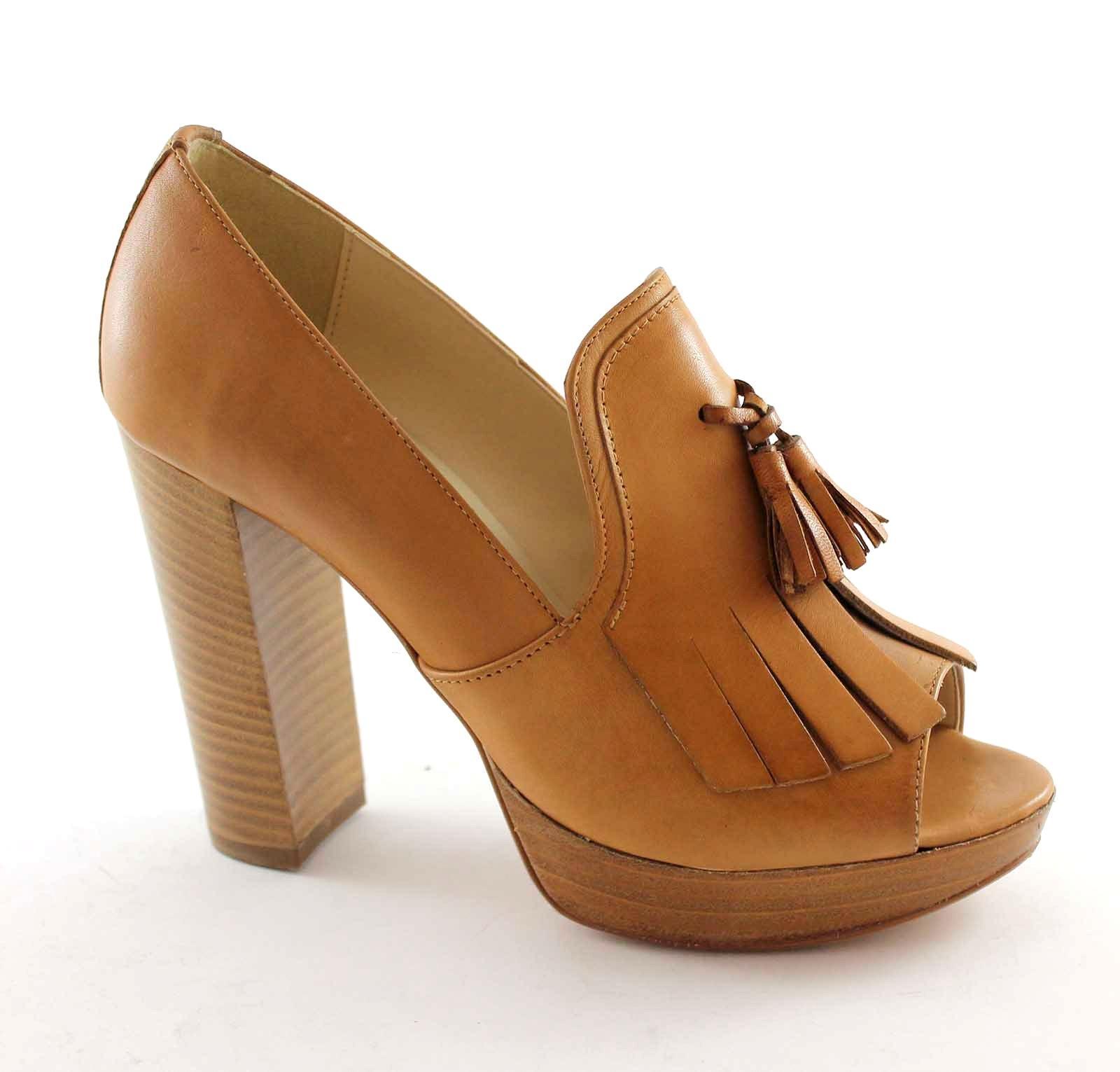 DIVINE FOLLIE 2315 cuoio scarpe  donna spuntata tacco tacco tacco frangia ef5a4b