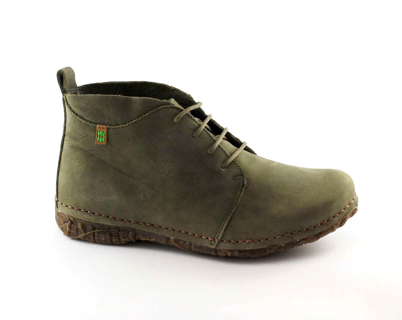 EL NATURALISTA N974 PLEASANT kaki scarpe donna  scarponcini lacci