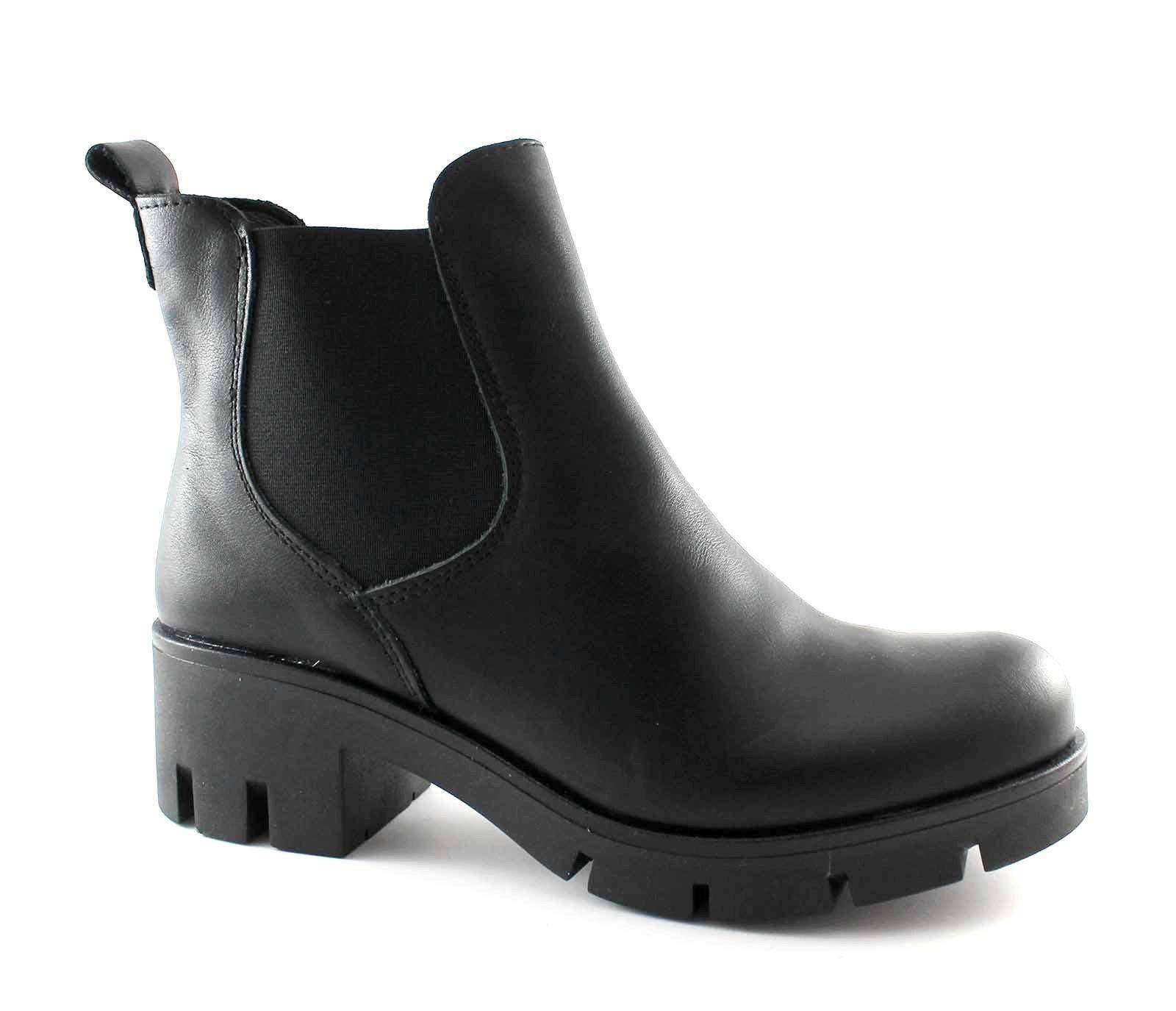 DIVINE FOLLIE stivaletto 17812U nero scarpe donna stivaletto FOLLIE beatles suola micro 336083