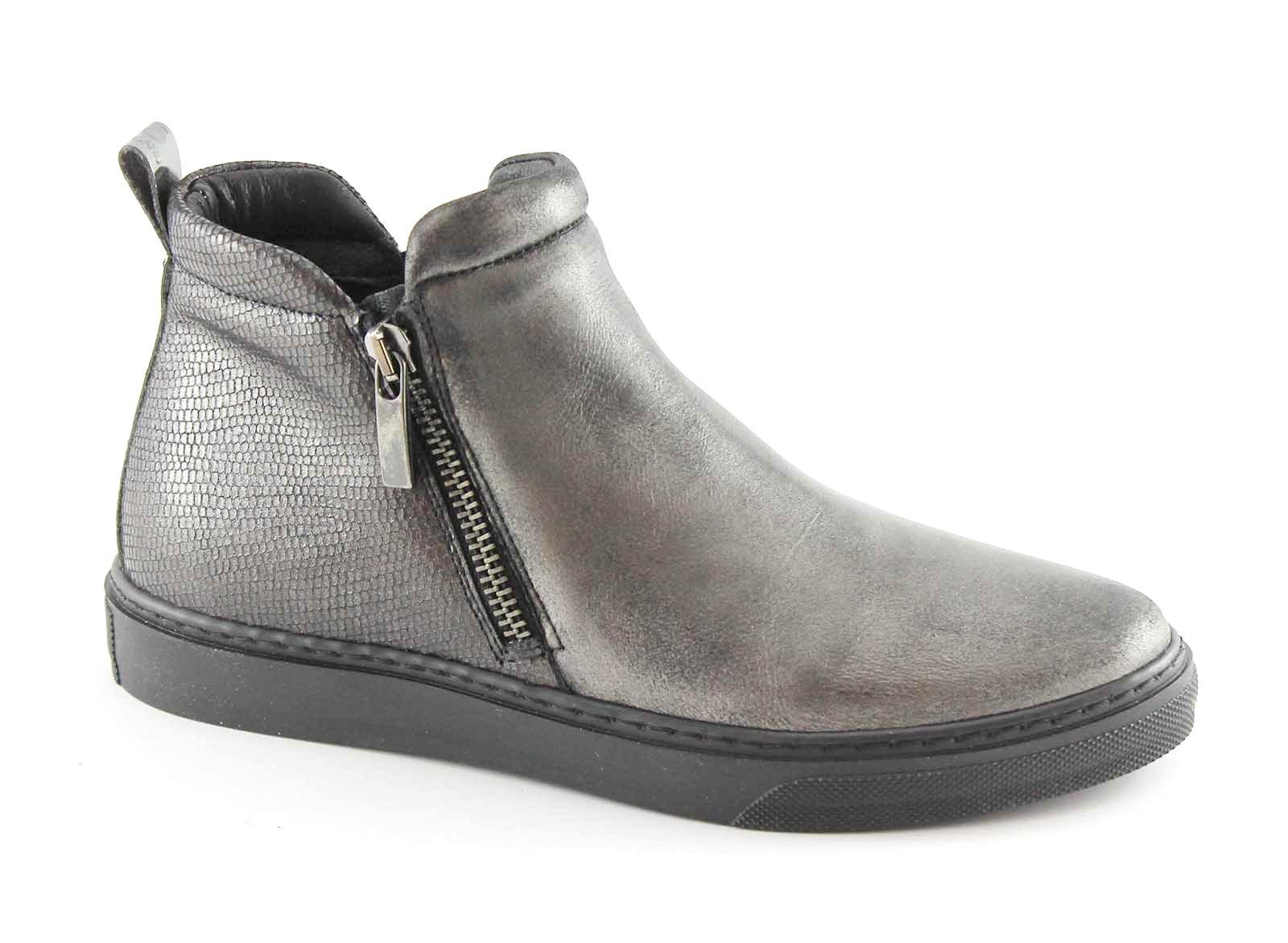 GRUNLAND PUNT PO0869 antracite scarpe platform donna mid cerniera elastico platform scarpe 5333c5