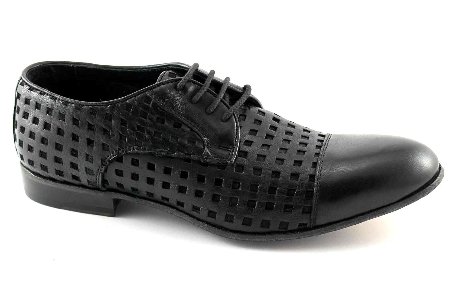 J.P. uomo DAVID 34337-3 nero scarpe uomo J.P. cerimonia derby puntale pelle made italy 967032