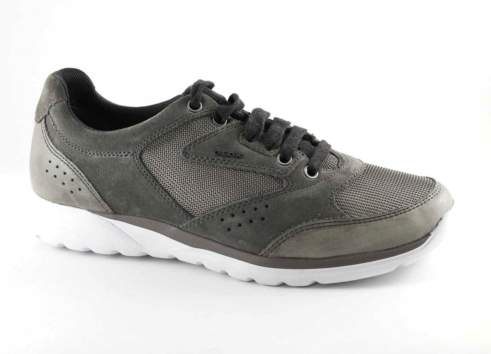 GEOX U620HA DAMIAN grey grigio traspirante scarpe uomo sportive lacci traspirante grigio c32b4b