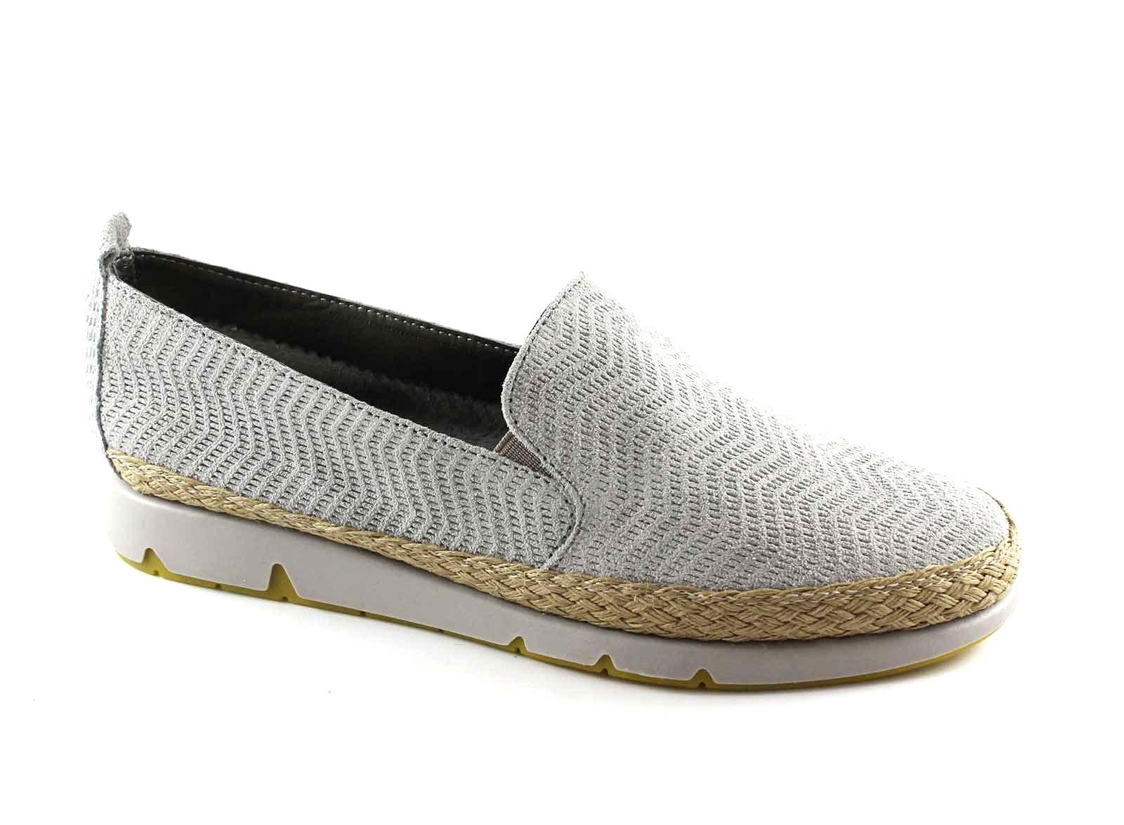 GRUNLAND MILI SC3418 36 grigio scarpe donna mocassini slip on