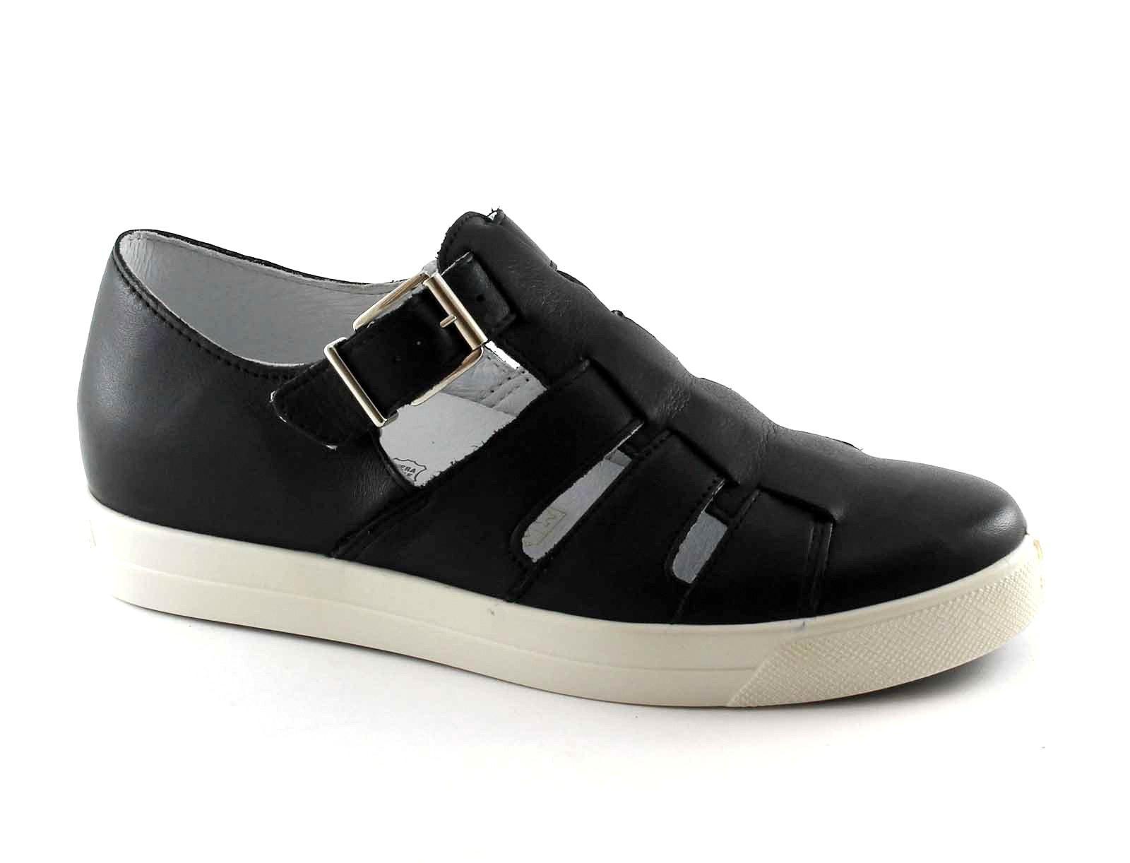 IGI&CO 77890 nero pelle scarpe sandalo donna fibbia pelle nero cut out 545090