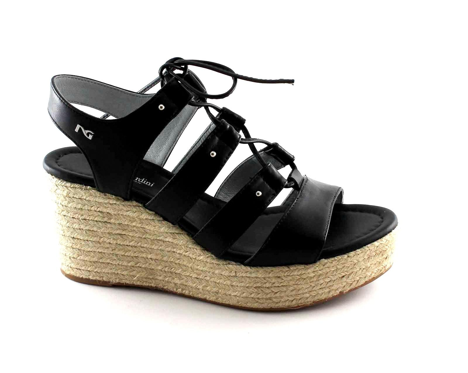 NERO-GIARDINI-17680-nero-scarpe-donna-sandali-pelle-zeppa-corda-lacci