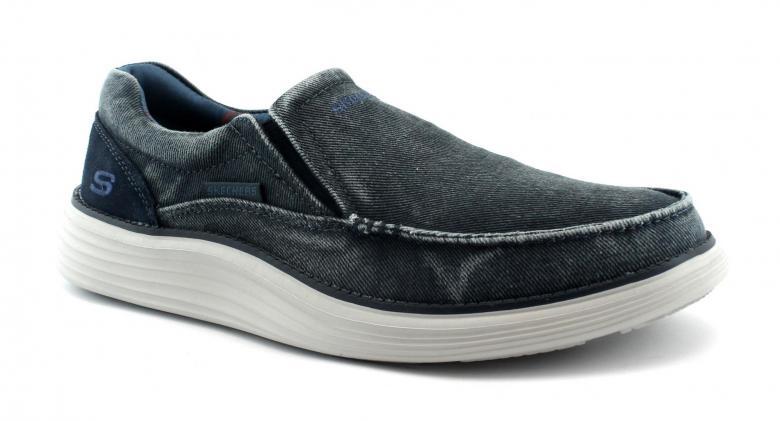 Details about Skechers 66014 mosent Blue Blue Mens Boat Shoes Slip On  Memory Foam- show original title