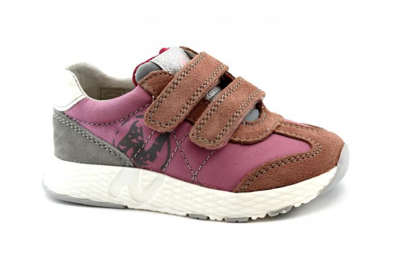 new product 4e697 7f1af Details about NATURINO JESKO 14265 rosa grigio 27/32 scarpe bambina girl  strappi