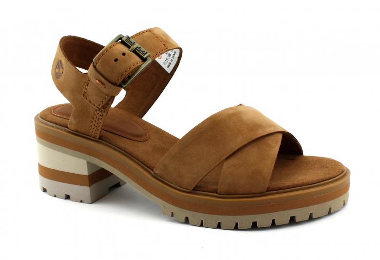 Dettagli su TIMBERLAND VIOLET MARSH 0A1SN2 rust cuoio scarpe donna sandali fibbia tacco pell