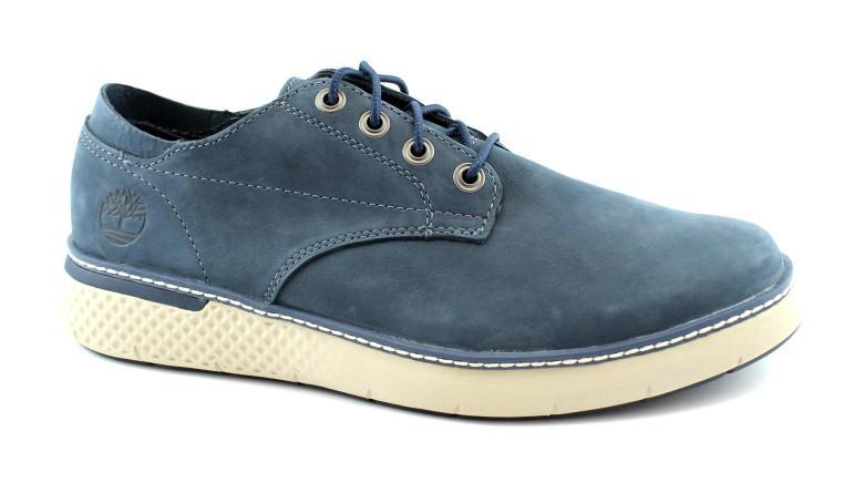 TIMBERLAND A264S CROSS MARK OXFORD dark blue blu scarpe uomo sneakers pelle lacc | eBay