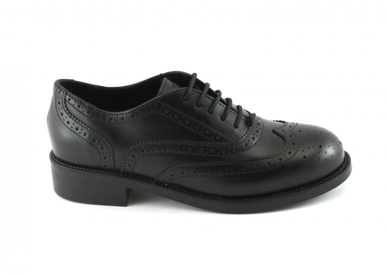 FRAU 98P5 nero scarpe donna inglesina puntale inglese pelle  326aaa537e3