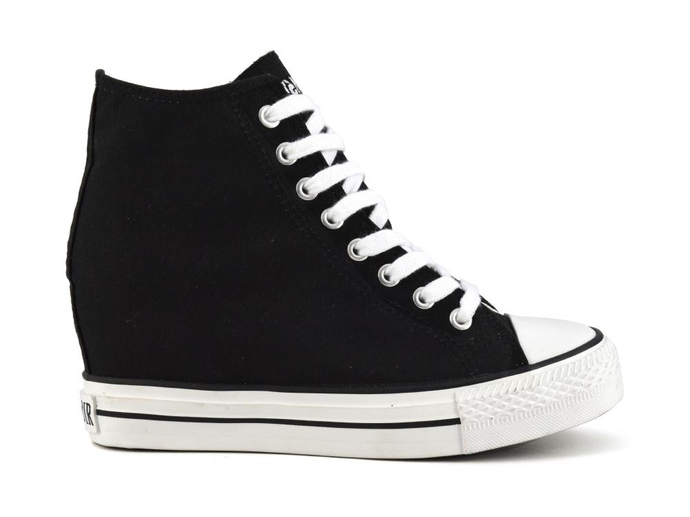 reputable site 0d399 55b87 Nero 40 Zeppa Per In Sneakers Cafènoir Interna Tessuto Donna Ebay qPXP8xn